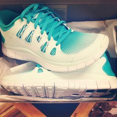 Turquoise nike shoes someone buy these for me..