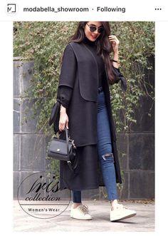 Modern Hijab Fashion, Street Hijab Fashion, Abaya Fashion, Muslim Fashion, Modest Fashion, Women's Fashion Dresses, Mode Abaya, Mode Hijab, Iranian Women Fashion