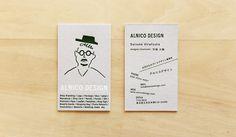 活版印刷+箔押しの名刺-アルニコデザイン Collateral Design, Branding Design, Name Card Design, Bussiness Card, Drawing Exercises, Graphic Design Print, Before Us, Name Cards, Mini Books