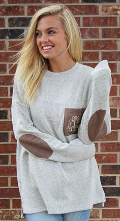 Monogrammed Preppy Patch Tunic from Marleylilly! http://marleylilly.com/product/monogrammed-preppy-patch-tunic/