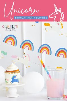 Our rainbow unicorn cupcake holders will be the perfect addition to your magical unicorn party! A great addition to a unicorn themed party - from birthdays to slumber parties, these baking cups are sure to be a big hit! Take an ordinary cupcake and make them extraordinary in no time at all with these easy to use cupcake holders. We have all of the unicorn party supplies you are looking for! #cupcakeholders #unicornpartyfavors #bakingcups #unicornbirthday #unicornbirthdaysupplies Unicorn Themed Birthday Party, 1st Birthday Party For Girls, Birthday Ideas, Candy Party, Birthday Party Favors, Unique Party Themes, Party Ideas, Cupcake Holders, Unicorn Party Supplies