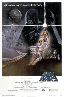Star Wars: Episode IV- A New Hope. I love this movie. I can still remember when I saw it for the first time. I was four and the movie had just come out in theaters. My mom took me to see it and I fell in love not only with the movie but with Darth Vader. To this day it's still one of my faves. A definite A+ movie. I give this flick 5 Death Stars (instead of actual stars).