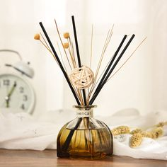 Portable No Fire Rattan Sticks Scent Purifying Air Fragrance Car Aroma Diffuser Set Office Decoration Living Room Essential Oil Hotel Room Decoration, Rattan, Fragrance Oil Diffuser, Scent Sticks, Reed Diffuser Sticks, Home Spray, Room Diffuser, Essential Oil Scents, Scented Oils