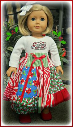 Christmas outfit - Jewell Star Doll Clothes
