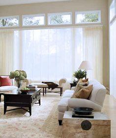 Sheer panels for sliding glass door. Better than vinyl vertical blinds...   $252
