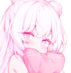 Anime Girl Pink, Anime Girl Neko, Manga Anime, Anime Art, Cute Anime Profile Pictures, Cute Anime Pics, Kawaii Art, Kawaii Anime, Pink Wallpaper Hello Kitty
