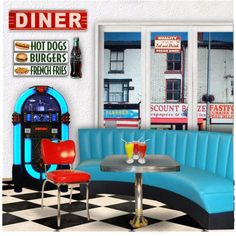"""""""50's Diner"""" by retrocat1 on Polyvore"""