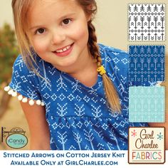 Jen of iCandy Handmade sewed up our Stitched Arrows on Blue into this adorable Girl's Boho Dress! Shop all three color versions of this gorgeous print in our Modern Air collection at GirlCharlee.com and read how you can make this sweet boho dress at icandy-handmade.com