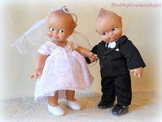 Jesco Kewpie doll couple bride doll groom doll by ShabbyGoesLucky