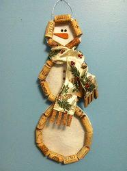 Snowman wall hanging