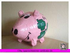 Glücksschwein- Glück - grosses Sparschwein - Geldgeschenk - Briefbox - Kartenbox