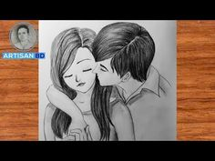 Love Pencil Sketch, Pencil Sketches Of Faces, Romantic Love, Easy Drawings, Colored Pencils, Cool Art, Around The Worlds, Husband, Artist