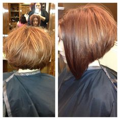 Short hair  bob   Hair by Krystal Ducker