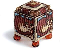 Now thats clever - a beaded box. Want to have a go at this!