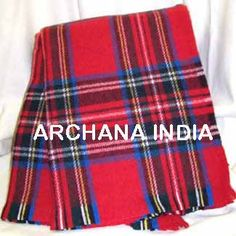 WOOLEN TARTAN BLANKET BY ARCHANA INDIA
