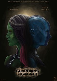 Gamora and Nebula. kinda reminds me of professor quarrel and lord voldemort Best Marvel Movies, Marvel Films, Marvel Series, Marvel Characters, Thanos Marvel, Marvel Avengers, Gamora And Nebula, Gardians Of The Galaxy, Avengers Infinity War