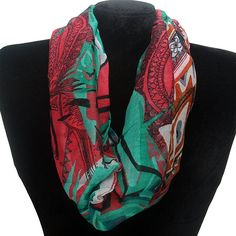 Abstract Print Infinity Scarf Fashion Jewelry Wholesale