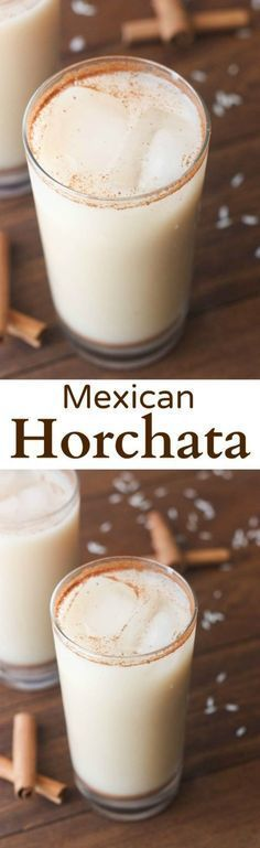 The easiest, creamy and slightly sweet homemade Authentic Mexican Horchata. It's almost Cinco de Mayo guys! A good excuse to throw a party with your friends and make some awesome homemade Mexican food! I'll be making several of my favorite Mexican dishes, Mexican Horchata, Mexican Drinks, Mexican Dishes, Mexican Food Recipes, Mexican Easy, Mexican Food For Party, Authentic Mexican Foods, Mexican Potluck, Vegetarian Mexican