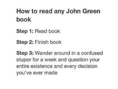 How to read any John Green book