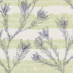 Leuca - hand screen-printed fabric yardage / meterage, designed by Lara Cameron of Ink & Spindle.