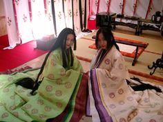 2 women dressed in junihitoe