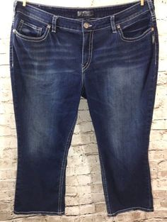 Lee Style Up Pull On Crop Jeans Plus Size 20W Petite Dark Wash ...