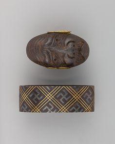 Sword-Hilt Collar and Pommel (Fuchigashira) | Japanese | The Met