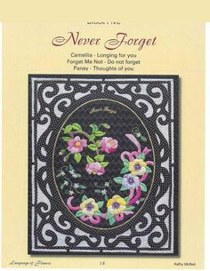 Never Forget Pattern Only SALE!