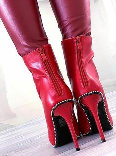 7 fantastiche immagini su Stivali Rossi | Stivali rossi