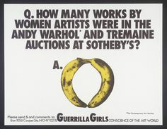 Guerrilla Girls '[no title]', 1985–90 © courtesy www.guerrillagirls.com