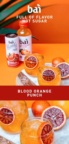 Gear up your taste buds for this knock-out Blood Orange Punch. Must be 21+. Please drink responsibly.