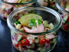 CEVICHE MED REKER Key Lime Pie, Ceviche, Tex Mex, Burritos, Fresh Rolls, Vegetables, Ethnic Recipes, Food, Drinks
