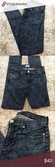 """Hudson Skinny Jeans Crinkle Marbled Acid Wash Hudson Skinny Jeans - Crinkle Marbled Acid Wash Finish   🌸Size: 27 🌸Inseam: 29.5"""" 🌸Front Rise: 9"""", Back Rise: 12"""" Hudson Jeans Pants Skinny"""