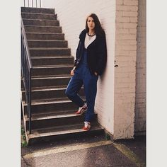#ThisisWelcome No Sports Jacket & #Dungarees with #AdidasGazelle