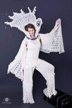 A sea spray inspired avant garde wedding outfit, Ennis, Clare, Ireland.