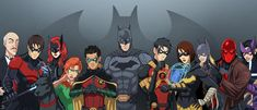 Batman, his Robins, and his Batgirls over the generations featuring: Bruce Wayne (as Batman) Dick Grayson (as Robin, Nightwing, and Batman) Barbara Gordon (as Batgirl and Oracle) Jason Todd (as Rob. Batwoman, Nightwing, Batgirl, Son Of Batman, Batman Art, Superman, Tim Drake Red Robin, Jason Todd Batman, Bat Boys