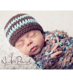 Crochet Hat PATTERN - Easy Basic Beanie With Flower Crochet Pattern - Instant Download PDF 121 - Newborn to Adult - Photography Prop Pattern...