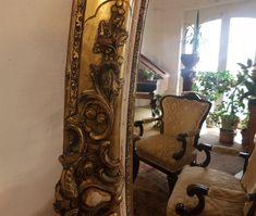 eladó rokokó bútor, eredeti, nagy méretű tükör Antique Furniture, Oversized Mirror, Curtains, Chair, Antiques, Modern, Fa, Vintage, Home Decor