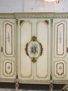 Painted Cottage Chic Shabby French Armoire