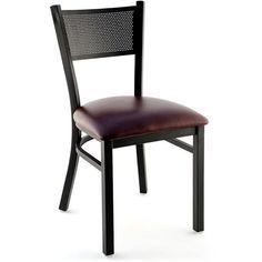 Metal Checker Back Restaurant Chair