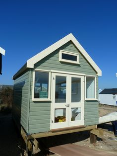 the ecologic huts at mudeford spit Beach Houses, Pool Houses, Outdoor Office, Shed Storage, Cozy Cottage, Tree Houses, Garages, Little Houses, Cabana