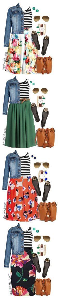 Plus Size Outfit Ideas - Plus Size Stripes and Skirts - Plus Size Fashion for Women - alexawebb,com #alexawebb #plus #size #womensfashionforwork