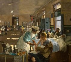 The First Wounded, London Hospital, August 1914 by John Lavery