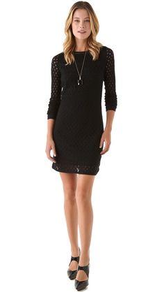 Diane von Furstenberg Kivel Ladder Lace Dress $226