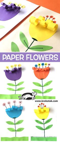 """Easy Peasy and Fun """"Paper Rosette Chick – Easy Easter Paper Craft"""" Simple Everyday Mom """"Handprint Cactus DIY Mother's Day Card"""" Krokotak """"Paper Flowers"""" Art Projects for Kids """"How to Draw a Shamrock"""" Art Projects for Kids """"Easy Abstract Flower Art"""" Kids Crafts, Spring Crafts For Kids, Easter Crafts, Projects For Kids, Art For Kids, Art Children, Flower Crafts Kids, Paper Flowers Kids, Art Projects"""