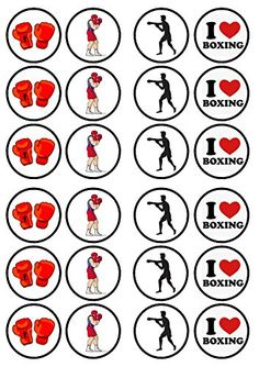 Boxing Edible PREMIUM THICKNESS SWEETENED VANILLA, Wafer Rice Paper Cupcake Toppers/Decorations Cian's Cupcake Toppers Ltd http://www.amazon.com/dp/B015L7GHOE/ref=cm_sw_r_pi_dp_f4X3wb1FARFQ1