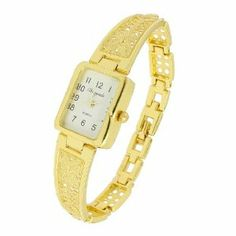 """Como Women Gold Tone Hollow Out Design Band Rectangle Dial Case Wrist Bracelet Watch by Como. $7.81. Package Content : 1 x Ladies Wrist Watch. Product Name : Wrist Watch;Fit for : Ladies. Main Color : Gold Tone;Weight : 25g. Total Length : 18.5cm / 7.3"""";Main Material : Alloy. Case Size : 2.2 x 1.9 x 0.7cm / 0.9"""" x 0.7"""" x 0.3""""( L*W*T);Band Width : 1.2cm / 0.5"""". Features with rectangle watchcase in gold tone, numeric display rectangle dial, hollow out butterfly design wr..."""