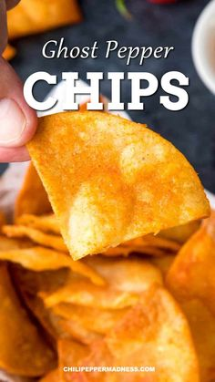 Learn how to make your own extra spicy homemade ghost pepper chips at home with this recipe. These tasty tortilla chips are hotter than anything you'll get in the store. #snackfood #fingerfoods #partysnacks