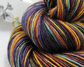 Handspun Yarn Gently Thick and Thin DK Single Blue Faced Leicester 'Cyborg Dandelion'