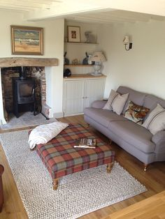 Another beautifully balanced room. I really like the idea of using the heather, sage and grey palette as this would remind us of our first holiday together in gorgeous Orkney.